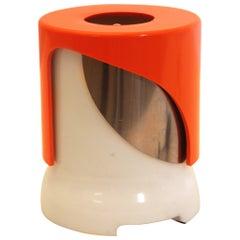 Mid Century Modern Orange White Table Lamp KD 24 by Joe Colombo Italy c 1966