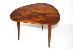 Mid-Century Modern Vintage Wood Tripod Coffee Table, 1950´s Austria