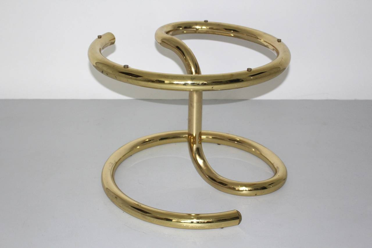 Late 20th Century Space Age Brass Plated Coffee Table Anaconda 1970 For Sale