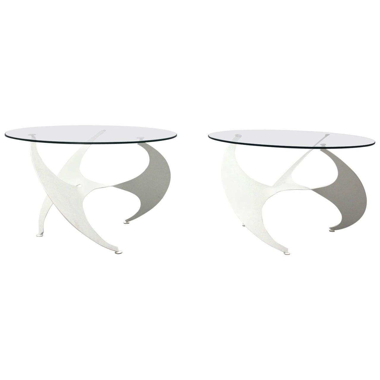 "Pair of Steel ""Propeller Tables"" by Knut Hesterberg, Germany, c. 1964"