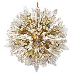 Snowball Gold-Plated Chandelier designed by Emil Stejnar Vienna Austria 1955