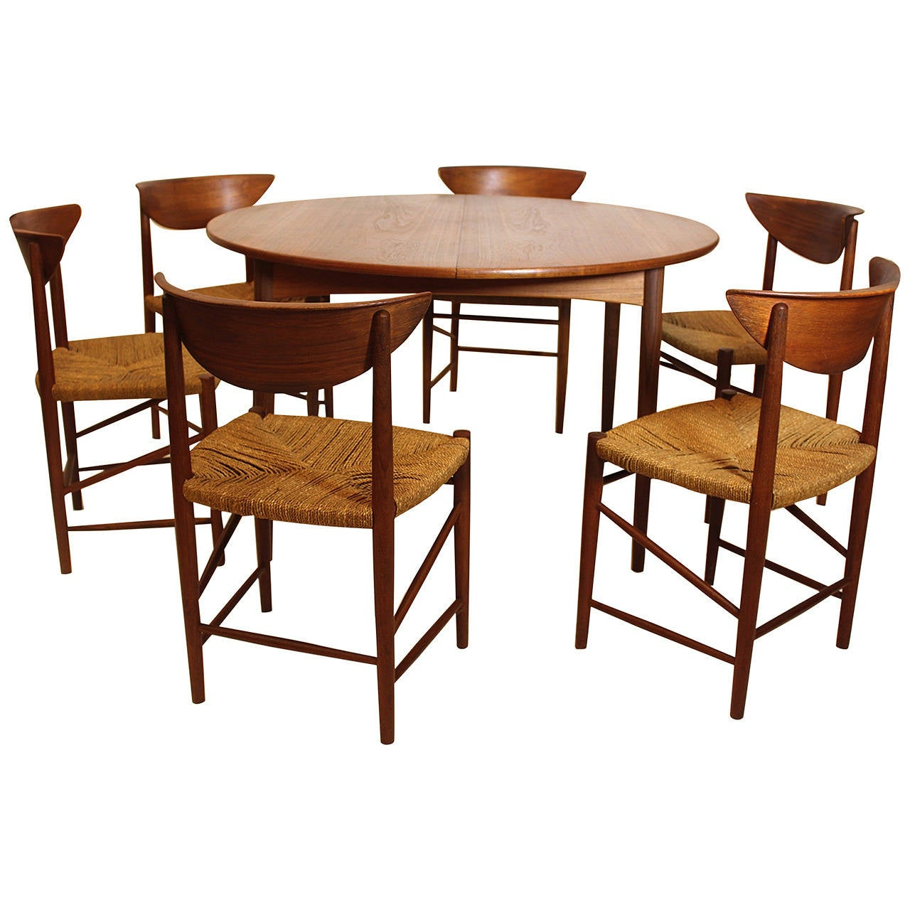 danish modern dining room suite by peter hvidt denmark
