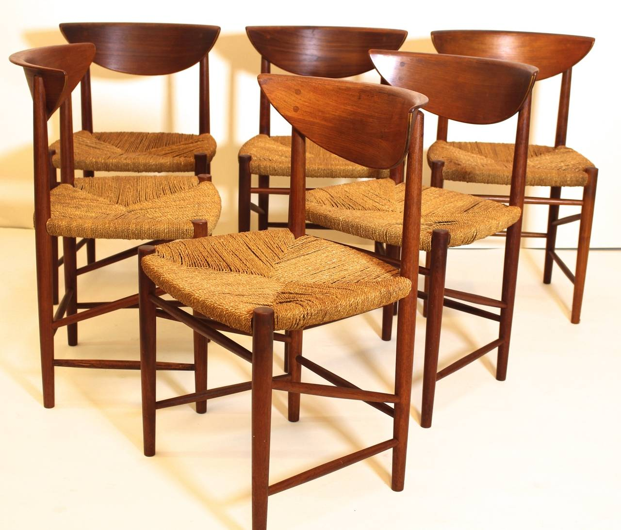 danish modern dining room suite by peter hvidt denmark
