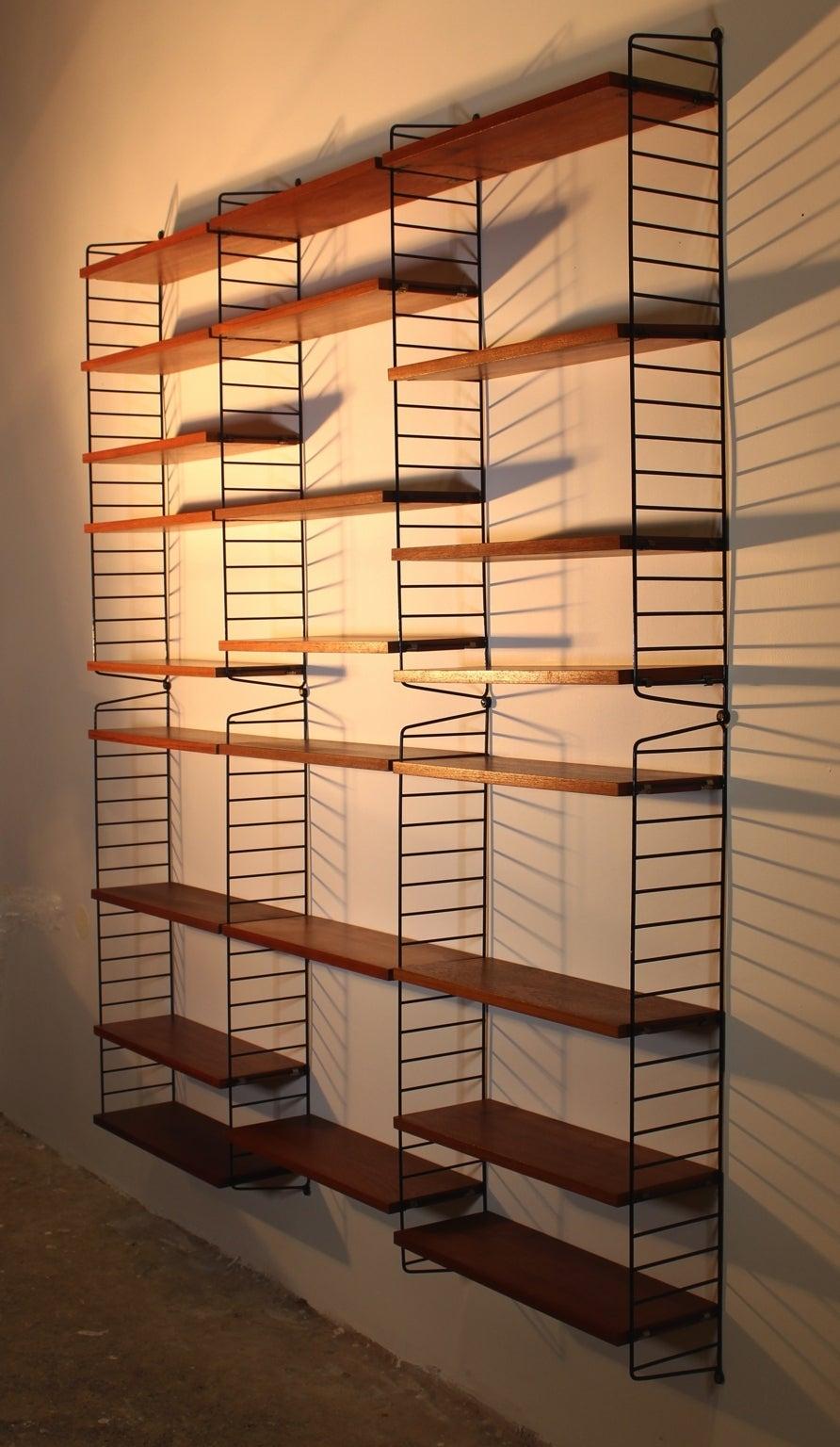 original string shelf ladder shelf by nisse strinning circa 1952 sweden for sale at 1stdibs. Black Bedroom Furniture Sets. Home Design Ideas