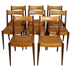 Mid-Century Modern Brown Beech Dining Chairs by Anna-Lülja Praun, Austria, 1953