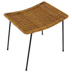 Wicker Stool Vienna, 1950s