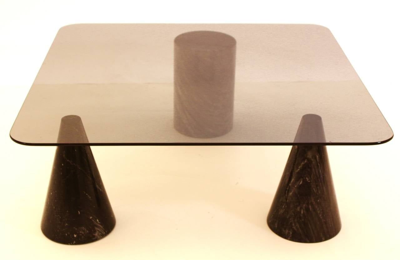 Italian Coffee Table in the Style of Angelo Mangiarotti, Italy, 1970s For Sale