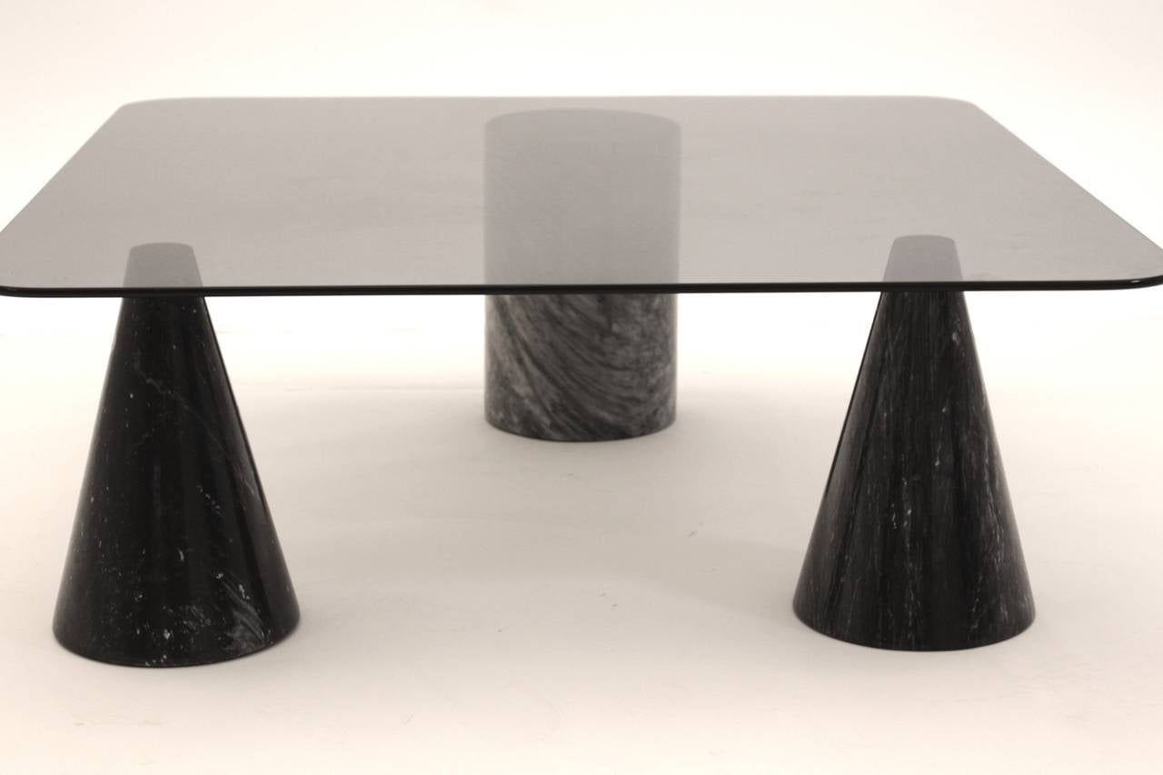 Mid-Century Modern Coffee Table in the Style of Angelo Mangiarotti, Italy, 1970s For Sale