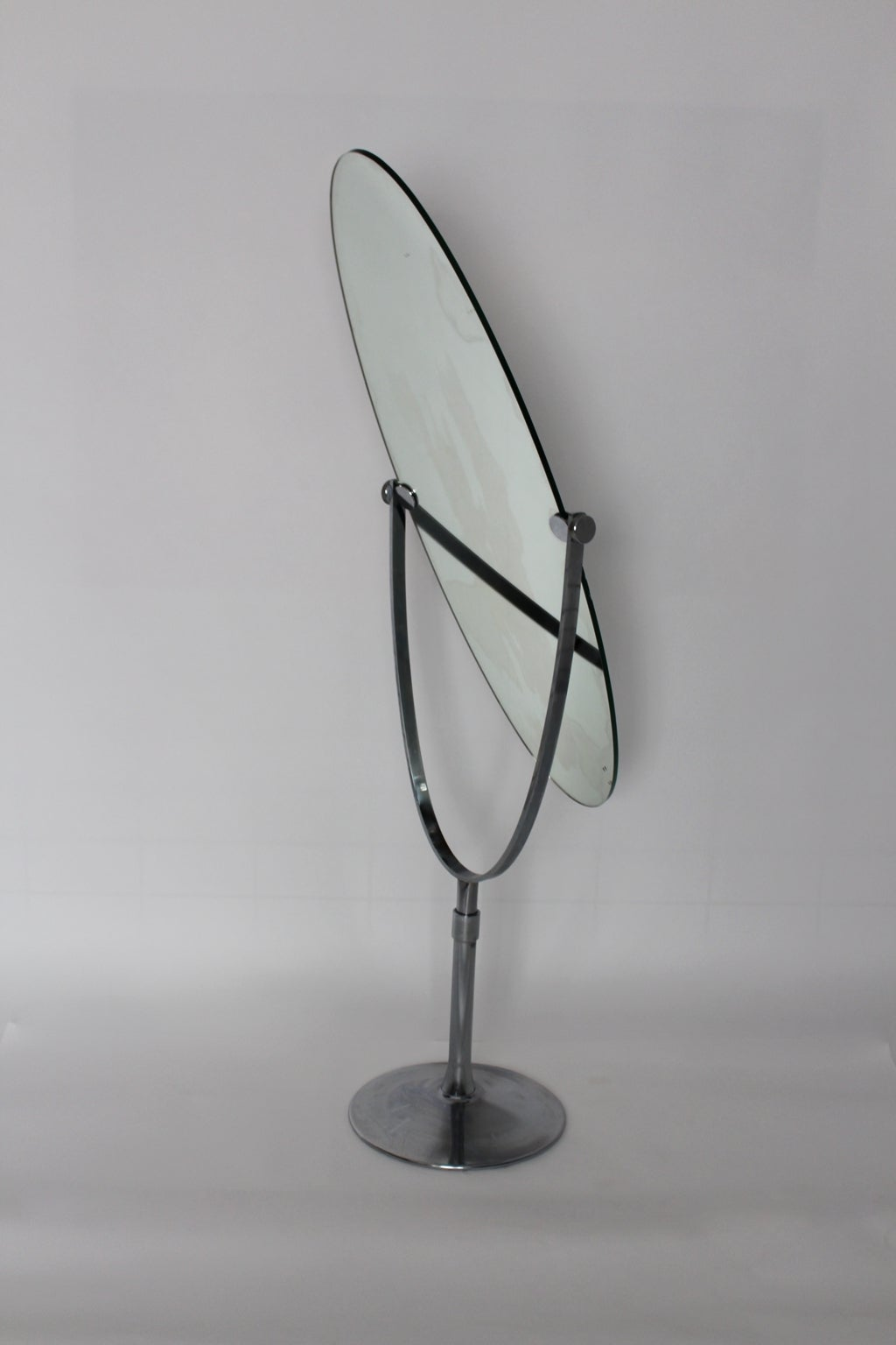Oval Swivelling Standing Mirror in the Style of Charles ...