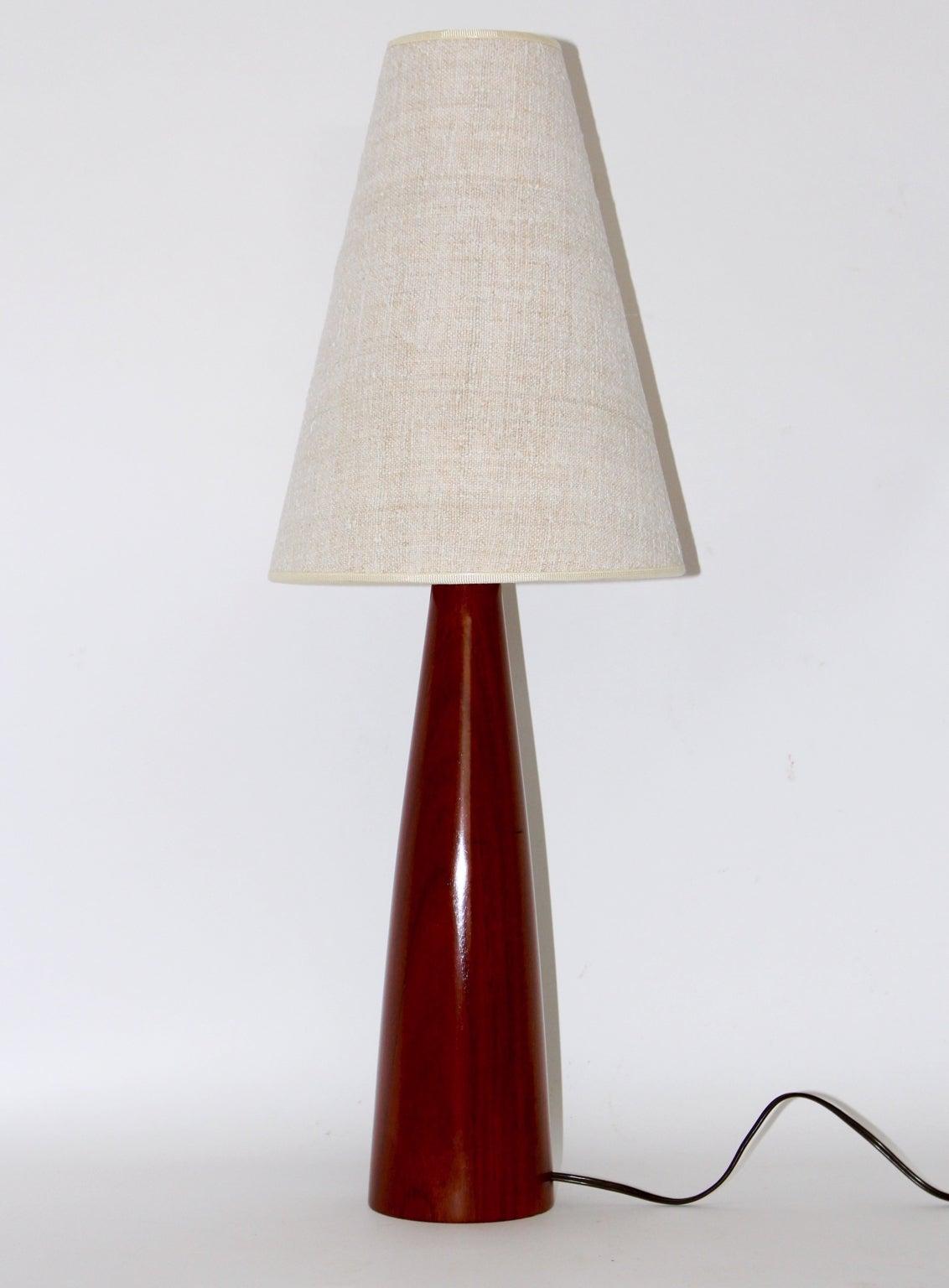 Scandinavian Modern Cone Teak Table Lamp, circa 1960 For ...