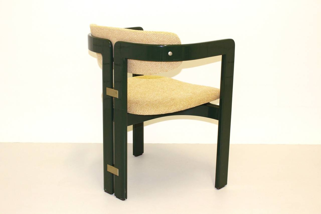 green comfortable dining chairs pamplona by augusto savini 1965 italy
