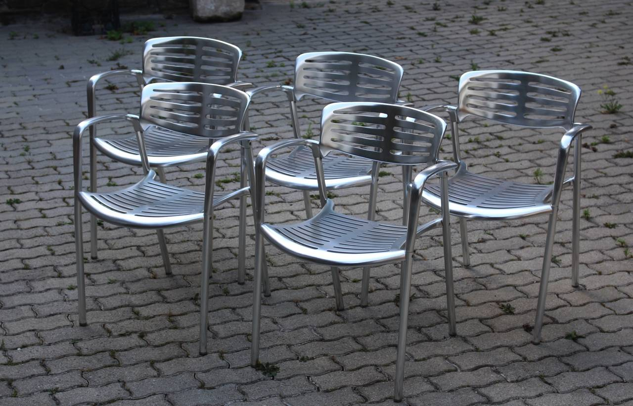 Modernist Metal Vintage Chairs Toledo by Jorge Pensi  Spain 1986-1988 In Good Condition For Sale In Vienna, AT