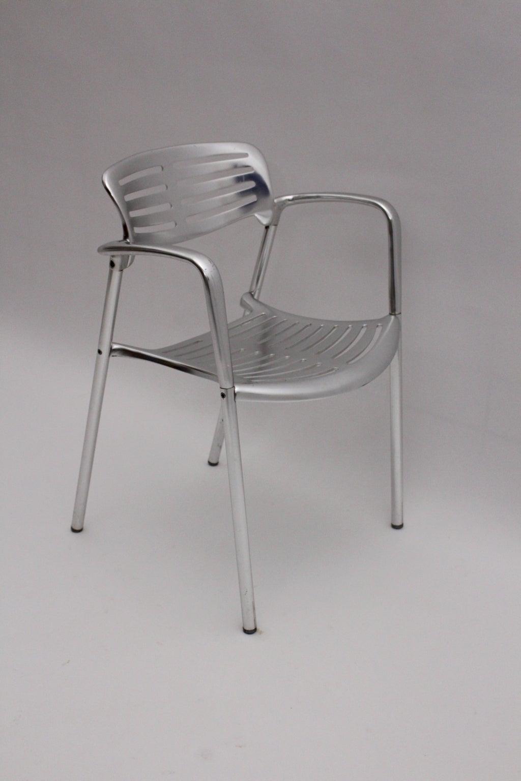 Modernist Metal Vintage Chairs Toledo by Jorge Pensi  Spain 1986-1988 For Sale 1