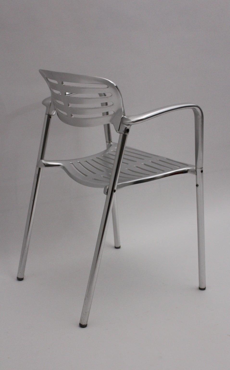 Modernist Metal Vintage Chairs Toledo by Jorge Pensi  Spain 1986-1988 For Sale 2