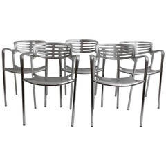 Modernist Metal Vintage Chairs Toledo by Jorge Pensi  Spain 1986-1988