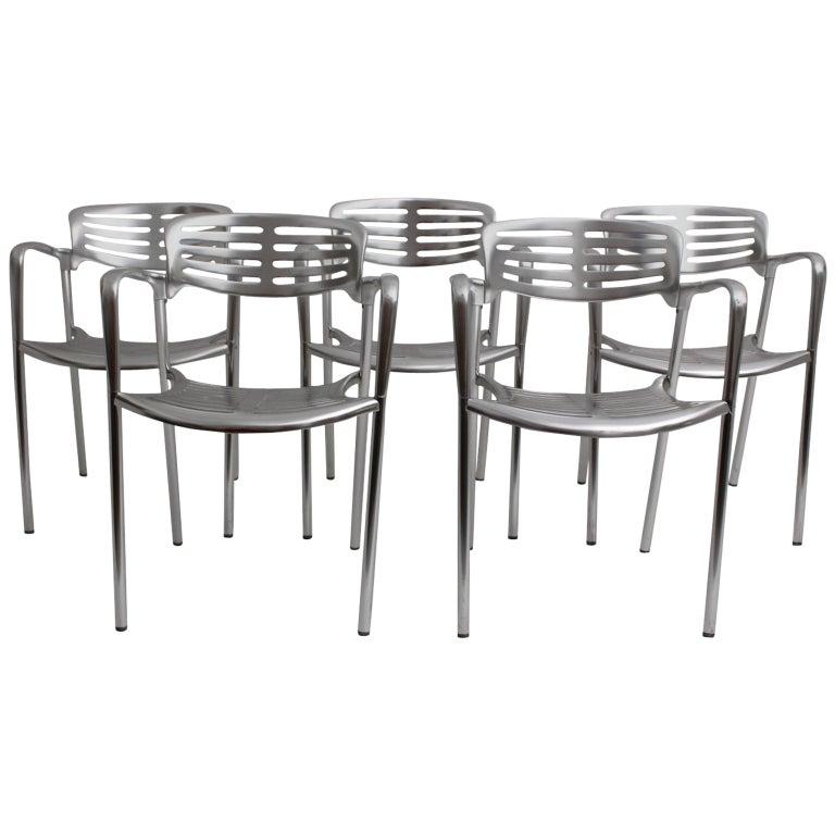 Modernist Metal Vintage Chairs Toledo by Jorge Pensi  Spain 1986-1988 For Sale