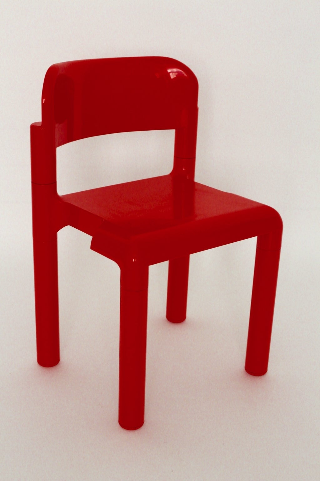 red space age set of four stacking chairs by eero aarnio 2