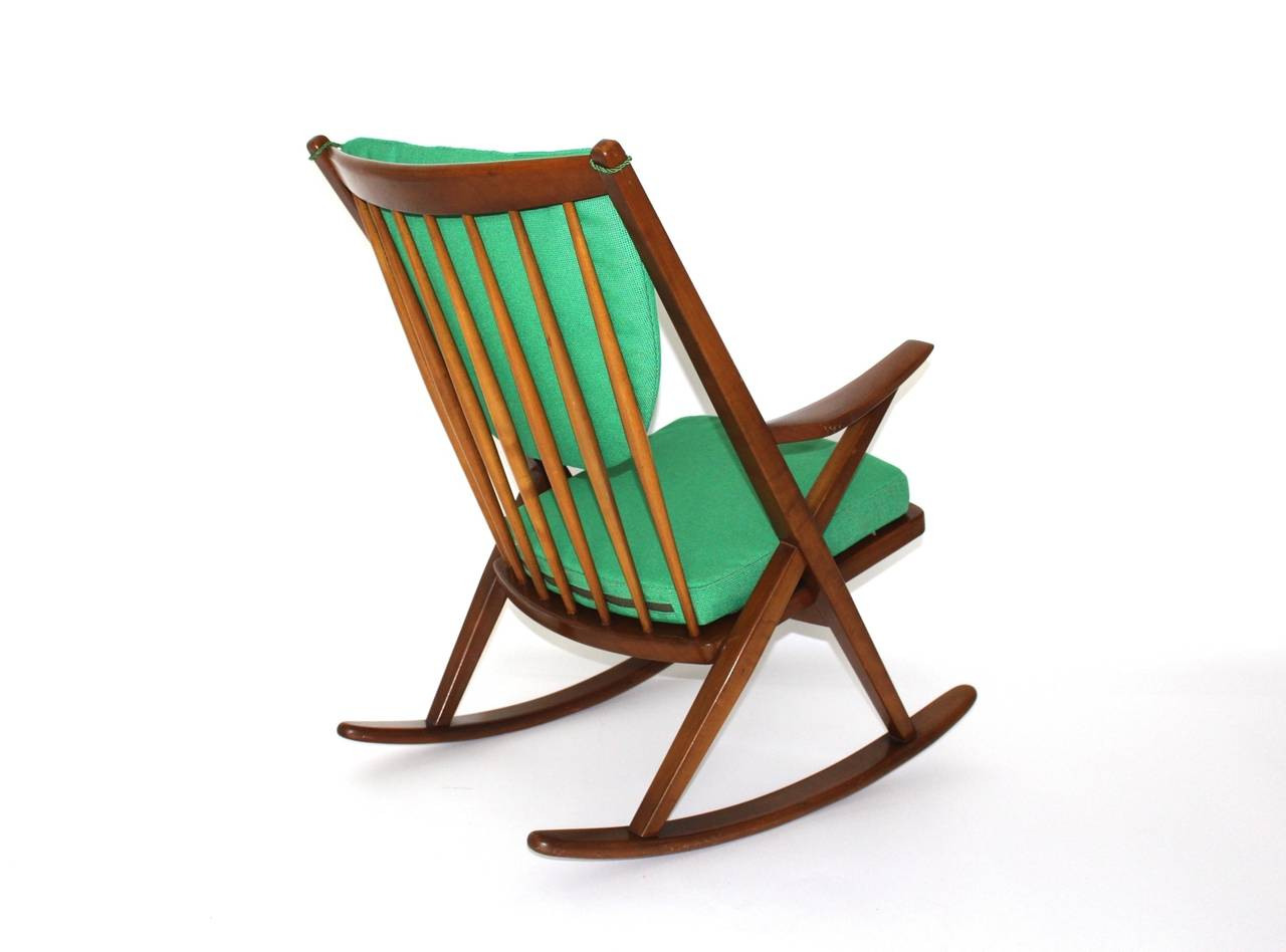 Rocking chair named Gyngestol type no. 182 designed by Frank Reenskaug ...