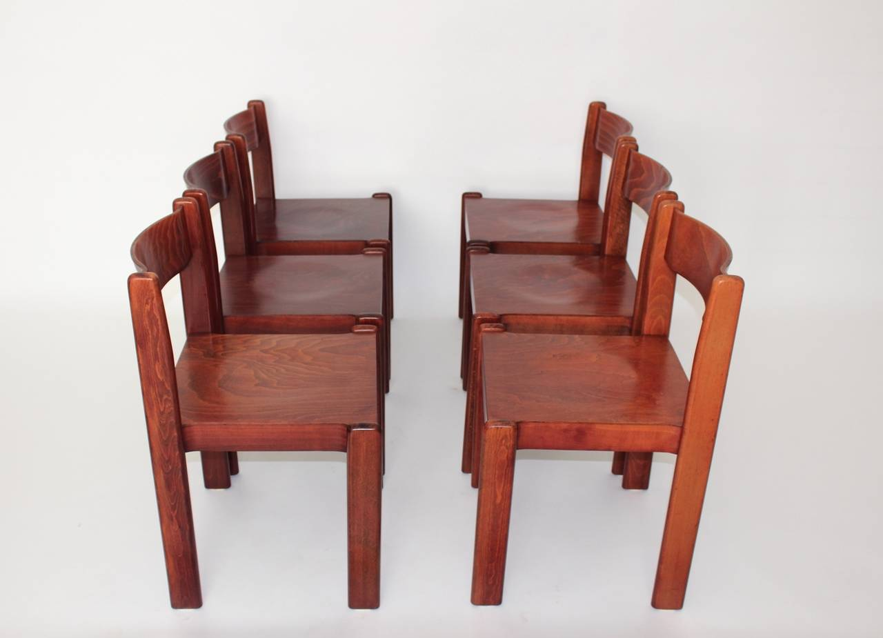 Brown mid century modern italian design dining room chairs for Designer dining chairs sale