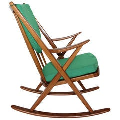 Scandinavian Modern Rocking Chair by Frank Reenskaug, circa 1960