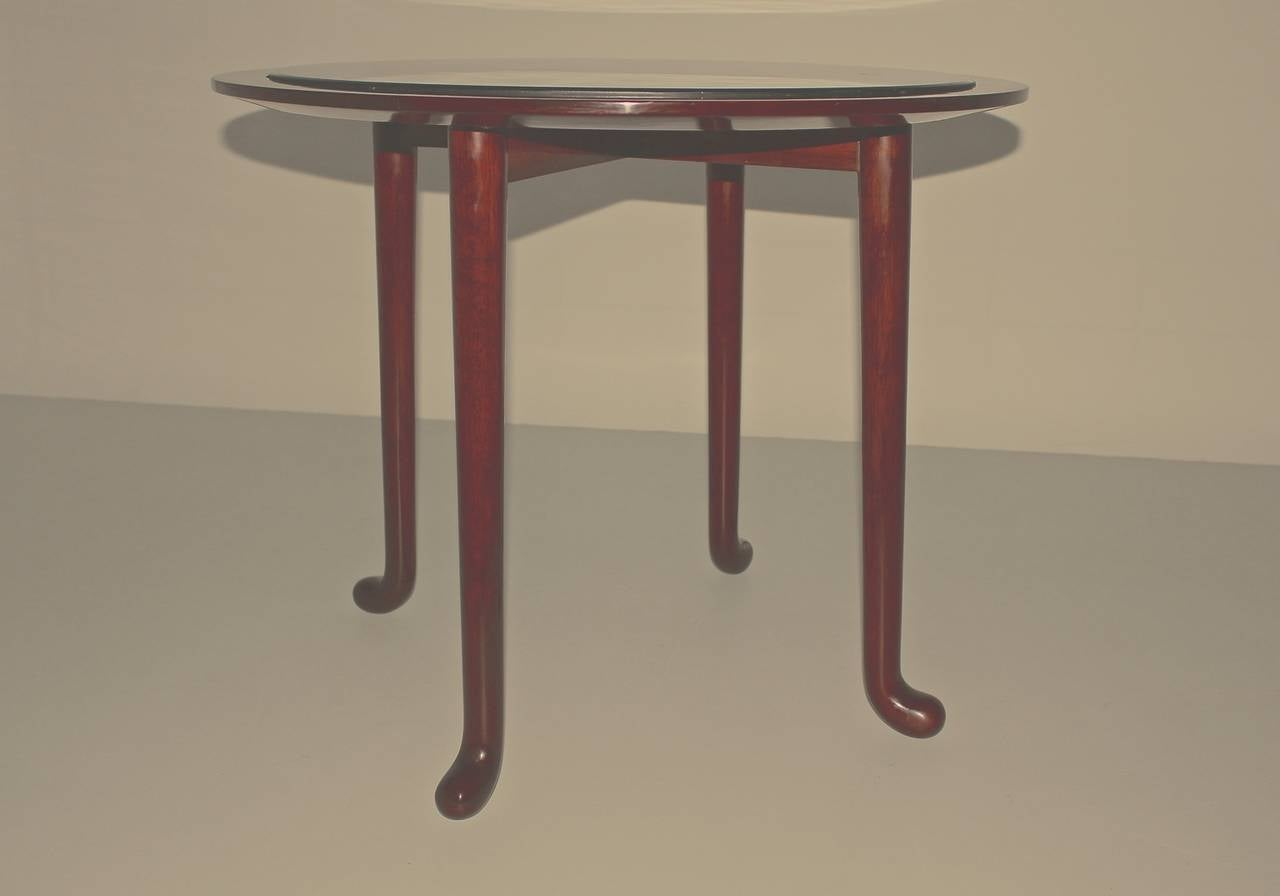 An Art Deco vintage walnut side table or coffee table, which was designed by Josef Frank attributed. Josef Frank ( 1885 - 1967 ) a Viennese designer and architect, who was famed for his marvelous furniture designs and his architecture. Josef Frank