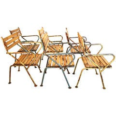 Garden Arm Chairs by Julius Jirasek for Hagenauer, circa 1955