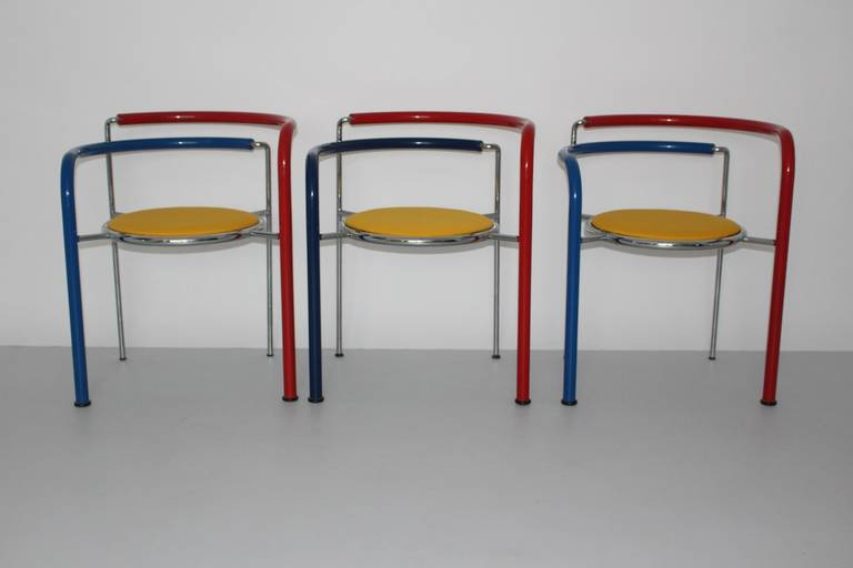 Danish Multicolored Seating Group by Rud Thygesen and Johnny Sorensen Denmark c 1989 For Sale