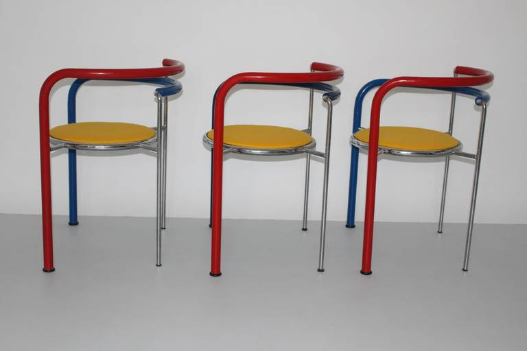 Woven Multicolored Seating Group by Rud Thygesen and Johnny Sorensen Denmark c 1989 For Sale
