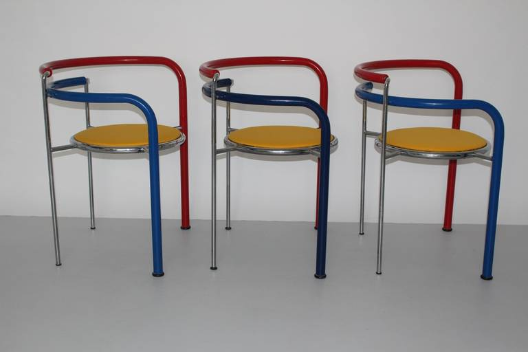 Multicolored Seating Group by Rud Thygesen and Johnny Sorensen Denmark c 1989 In Good Condition For Sale In Vienna, AT
