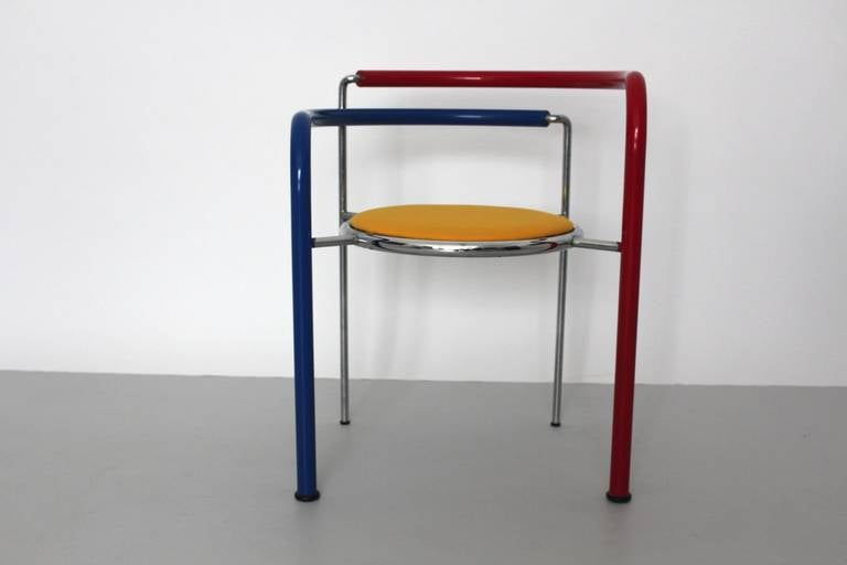 Fabric Multicolored Seating Group by Rud Thygesen and Johnny Sorensen Denmark c 1989 For Sale