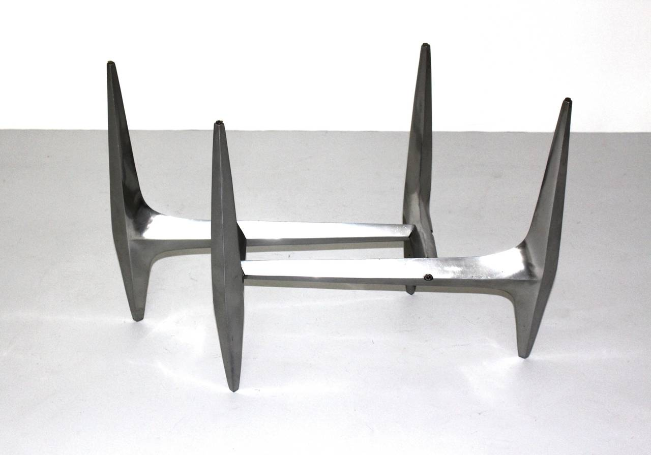 Mid-20th Century  Mid Century Modern Metal Vintage Coffee Table by Knut Hesterberg 1960s For Sale