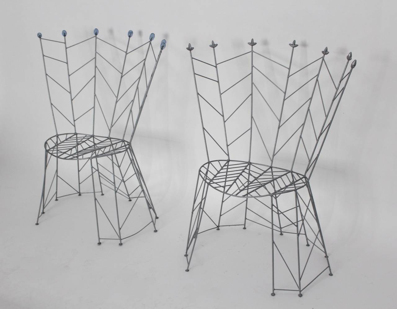 Lacquered Modernist Metal Vintage Chairs Pupeny by Bohuslav Horak 1988 Czech Republic For Sale