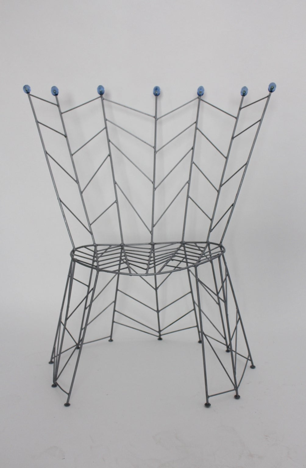 Late 20th Century Modernist Metal Vintage Chairs Pupeny by Bohuslav Horak 1988 Czech Republic For Sale