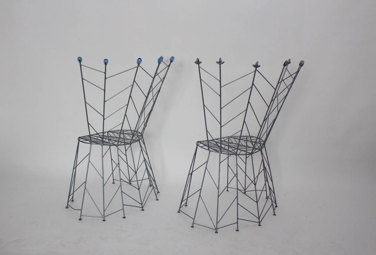 Modernist Metal Vintage Chairs Pupeny by Bohuslav Horak 1988 Czech Republic For Sale 1