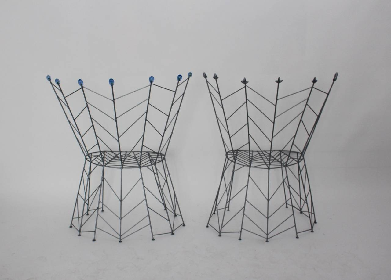Modernist Metal Vintage Chairs Pupeny by Bohuslav Horak 1988 Czech Republic In Good Condition For Sale In Vienna, AT