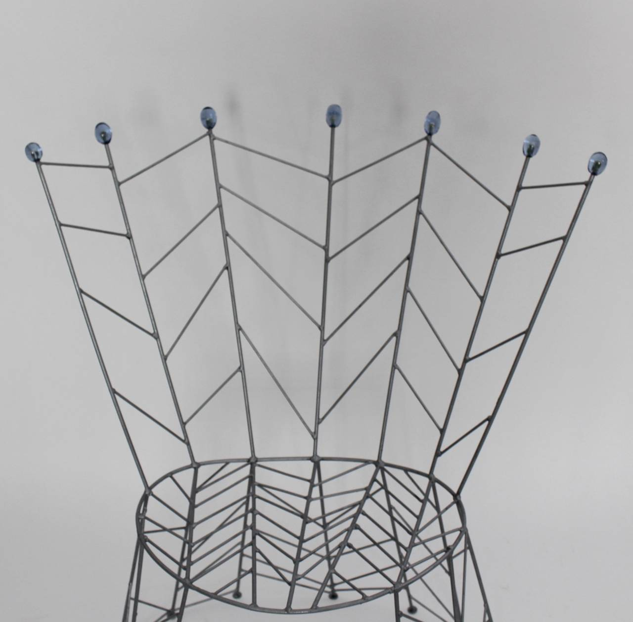 Modernist Metal Vintage Chairs Pupeny by Bohuslav Horak 1988 Czech Republic For Sale 3