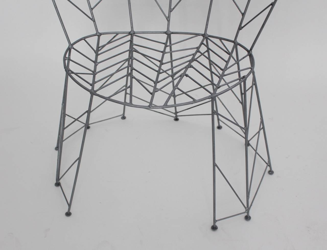 Modernist Metal Vintage Chairs Pupeny by Bohuslav Horak 1988 Czech Republic For Sale 4
