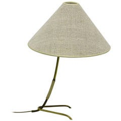 Mid-Century Modern Vintage Brass Canvas Kalmar Table Lamp Häschen, Vienna, 1960