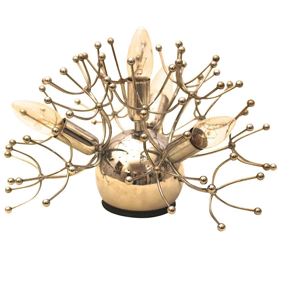 Mid Century Modern VintageChrome Sputnik Sciolari Table Lamp, circa 1960, Italy