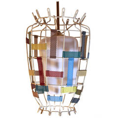 Multicolored Ceiling Lamp in the style Mathieu Mategot France 1950s
