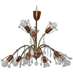 Mid Century Modern Vintage Chandelier by Emil Stejnar 1950 Austria Copper Brass