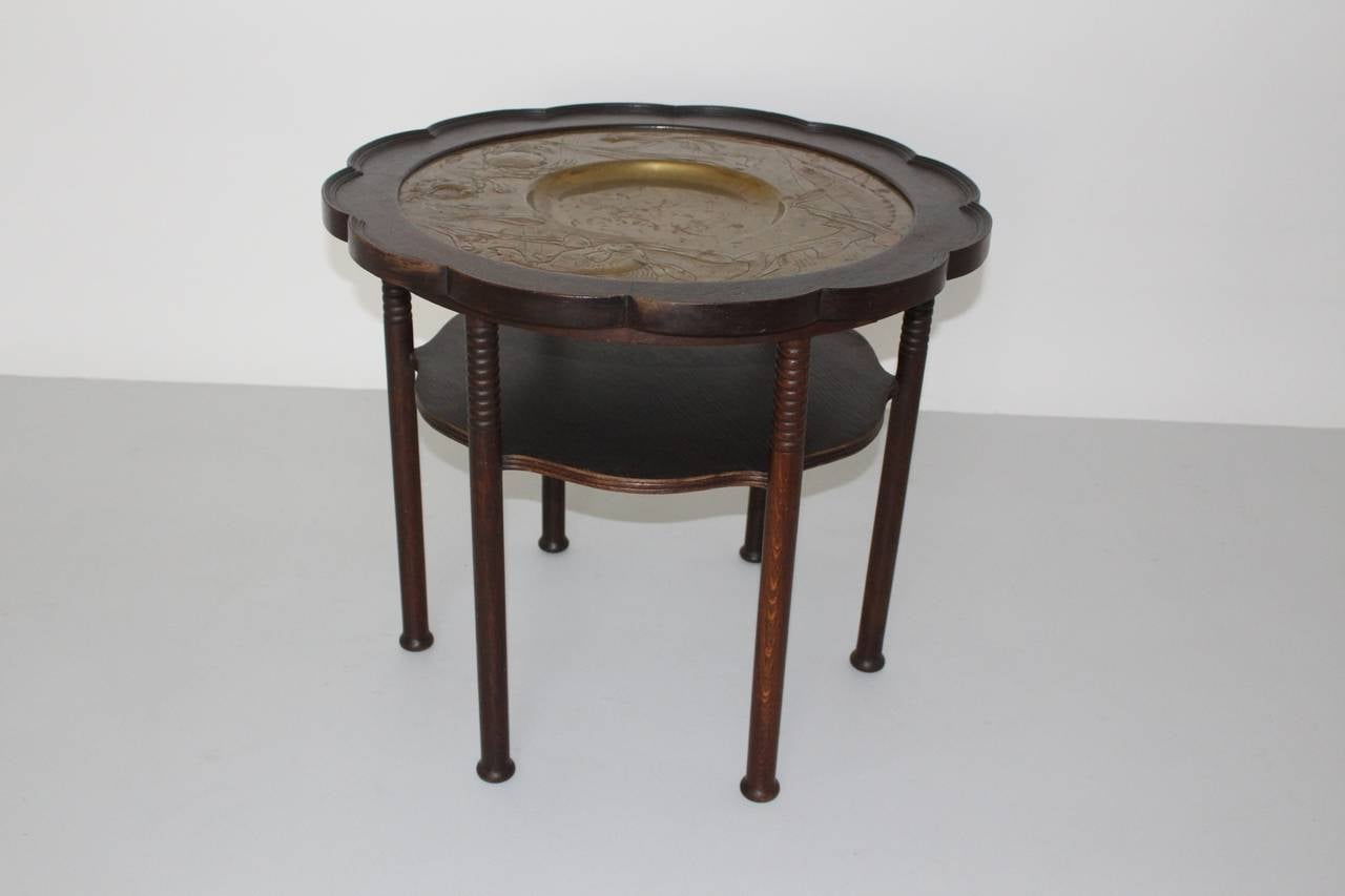 Austrian Jugendstil Vintage Coffee Table Style Adolf Loos, Austria, circa 1900 For Sale