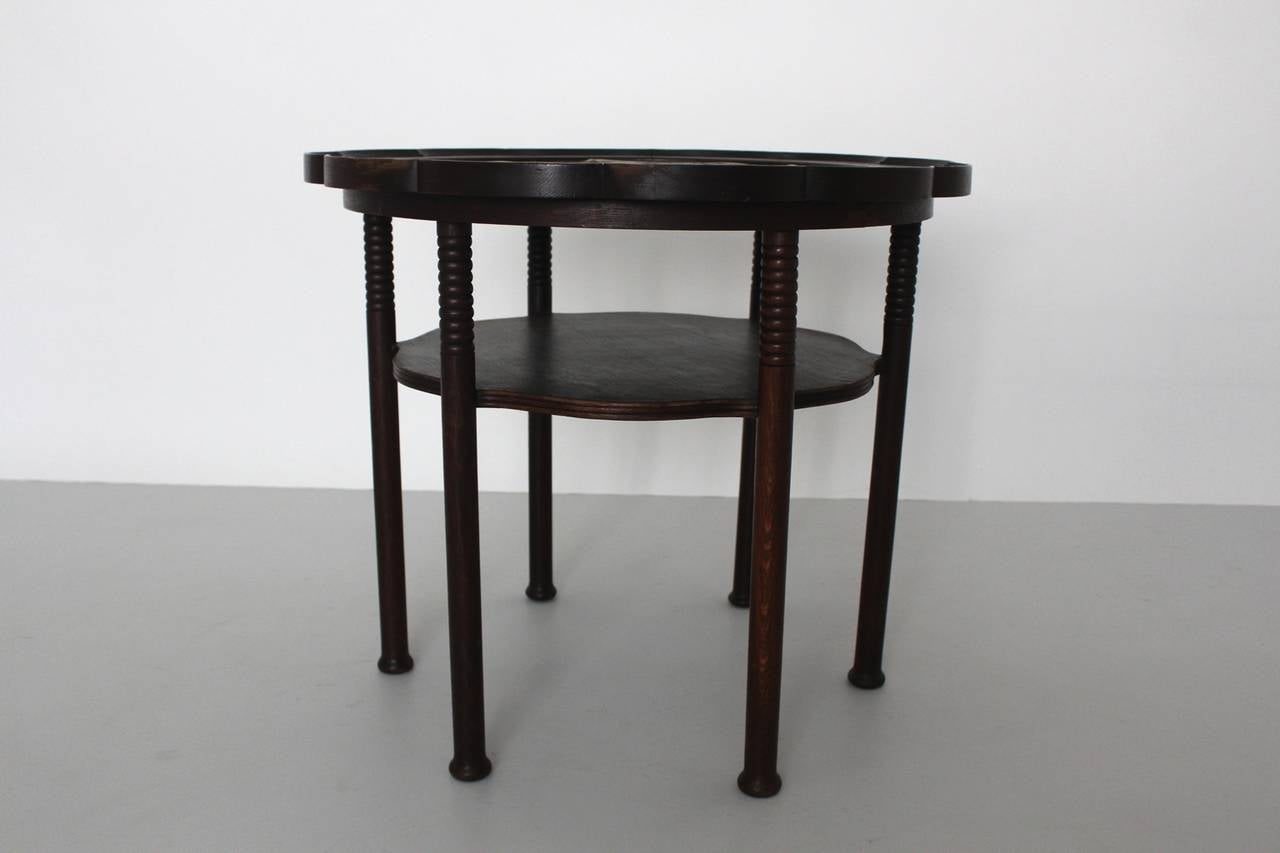 Jugendstil Vintage Coffee Table Style Adolf Loos, Austria, circa 1900 In Good Condition For Sale In Vienna, AT