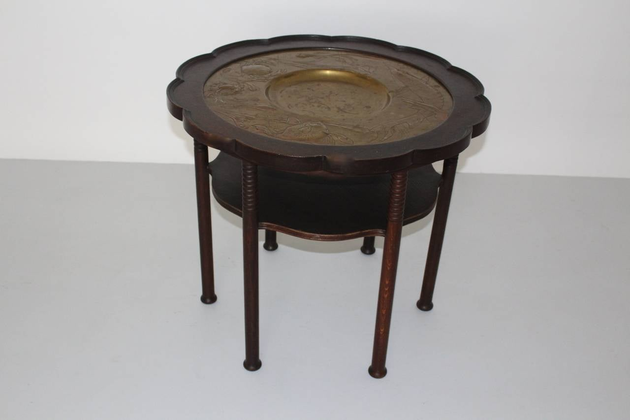 Jugendstil Vintage Coffee Table Style Adolf Loos, Austria, circa 1900 For Sale 1