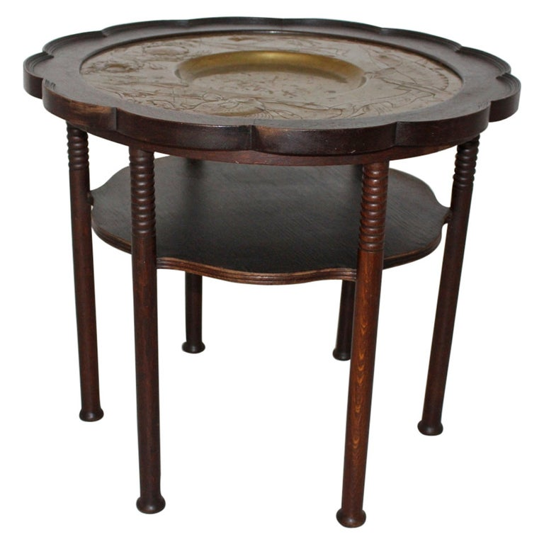 Jugendstil Vintage Coffee Table Style Adolf Loos, Austria, circa 1900 For Sale