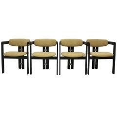 Mid Century Modern VintageGreen Dining Chairs Pamplona Augusto Savini 1965 Italy