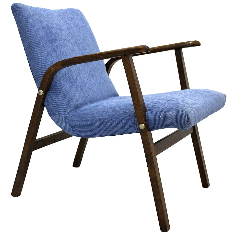 Blue Armchair By Roland Rainer Model Caf 233 Ritter Circa