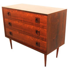 Rosewood Chest with three Drawers, Denmark, 1960s