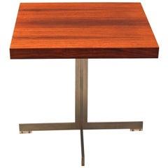Mid Century Modern Vintage Metal Teak Coffee Table by Verner Panton 1959 Denmark