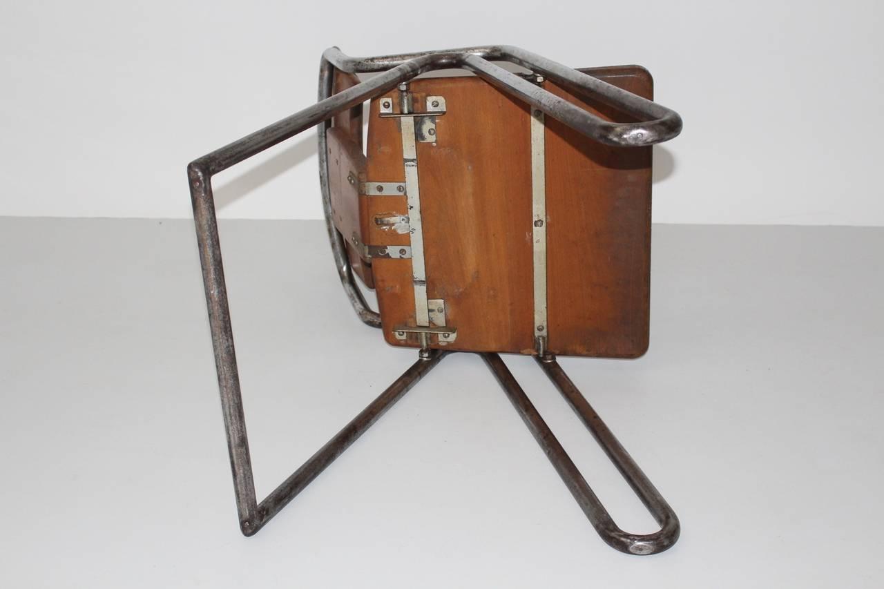 Peter Behrens Bauhaus Industrial Tubular Steel Chair Germany, circa 1930 For Sale 3